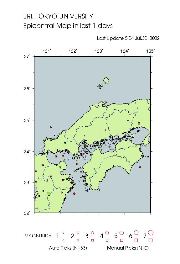 Earthquake Map hso 25015