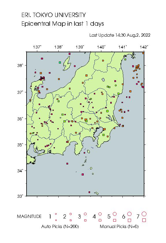 Earthquake Map tky 8639