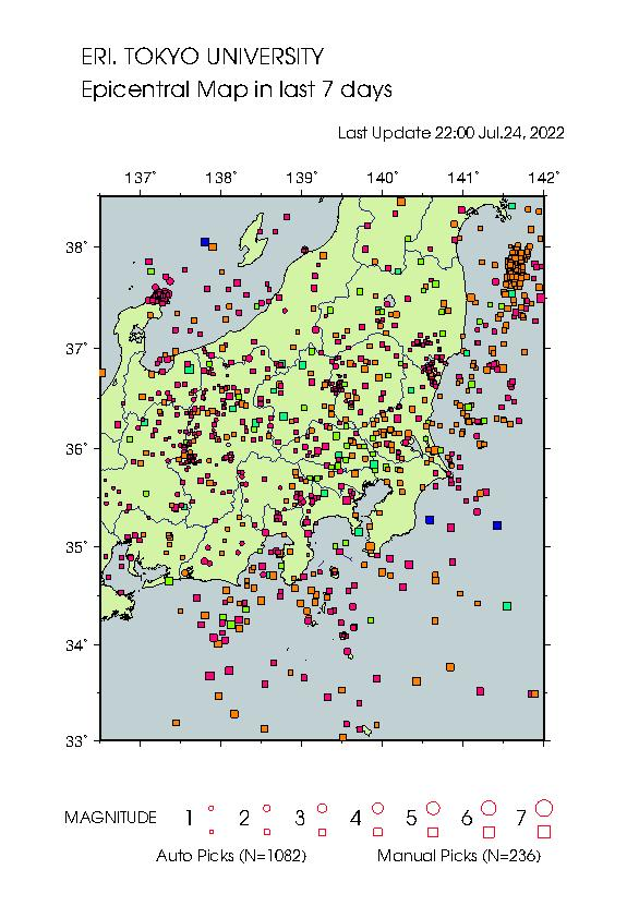 Earthquake Map tky 3755