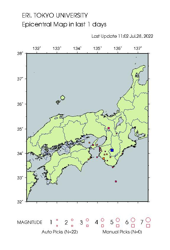 Earthquake Map wky 22284